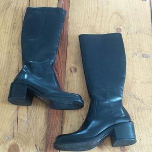 Harley-Davidson women's tall chunky heel boots